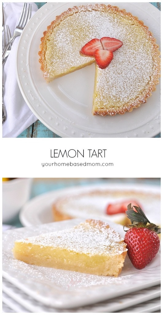 Lovely Lemon Tart from yourhomebasedmom