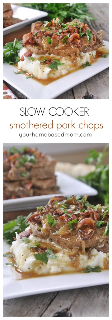 smothered pork chops slow cooker