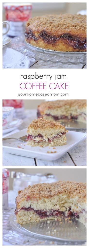 Raspberry Jam Coffee Cake made with delicious Bonne Maman jam is perfect for breakfast or brunch.  No coffee drinking required.