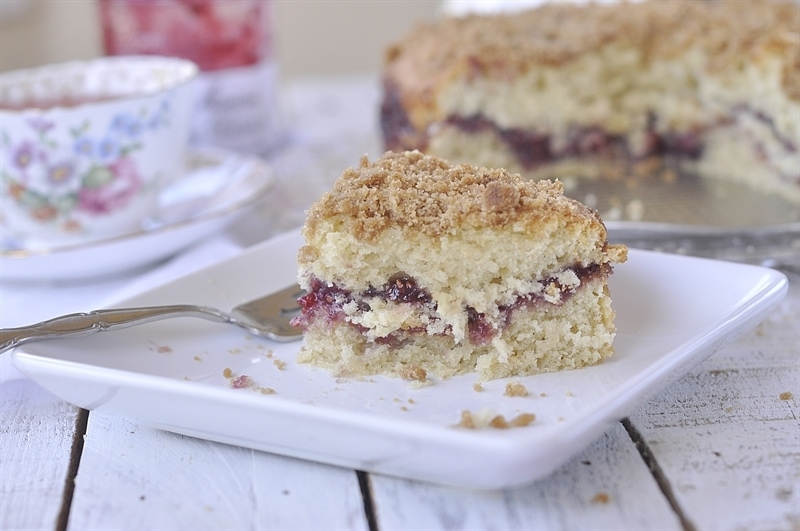 Raspberry Jam Coffee Cake