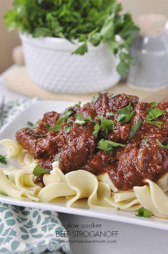 Slow Cooker Beef Stroganoff Your Homebased Mom
