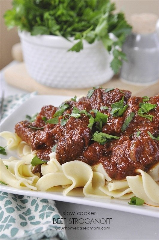Slow Cooker Beef Stroganoff is a simple and delicious solution to ...