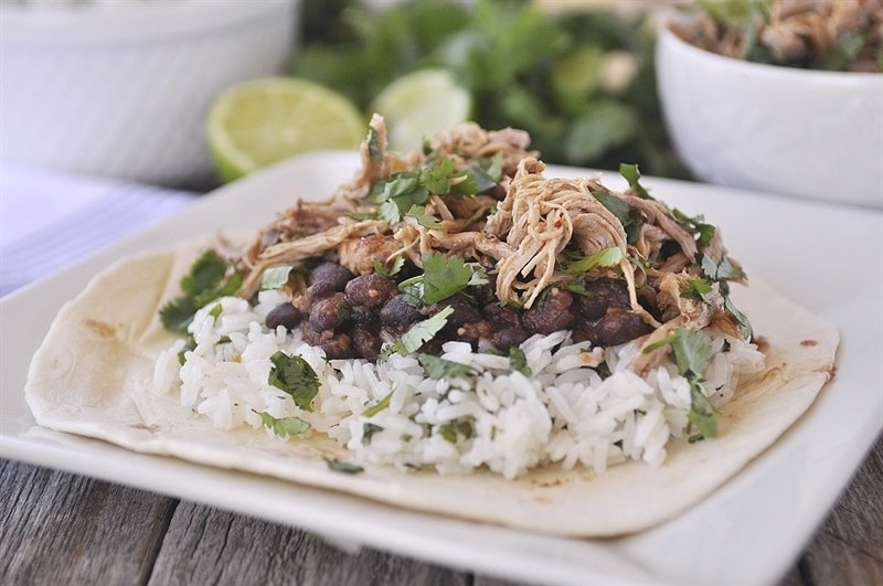 Slow Cooker Shredded Chipotle Pork - perfect for tacos, burritos and enchiladas