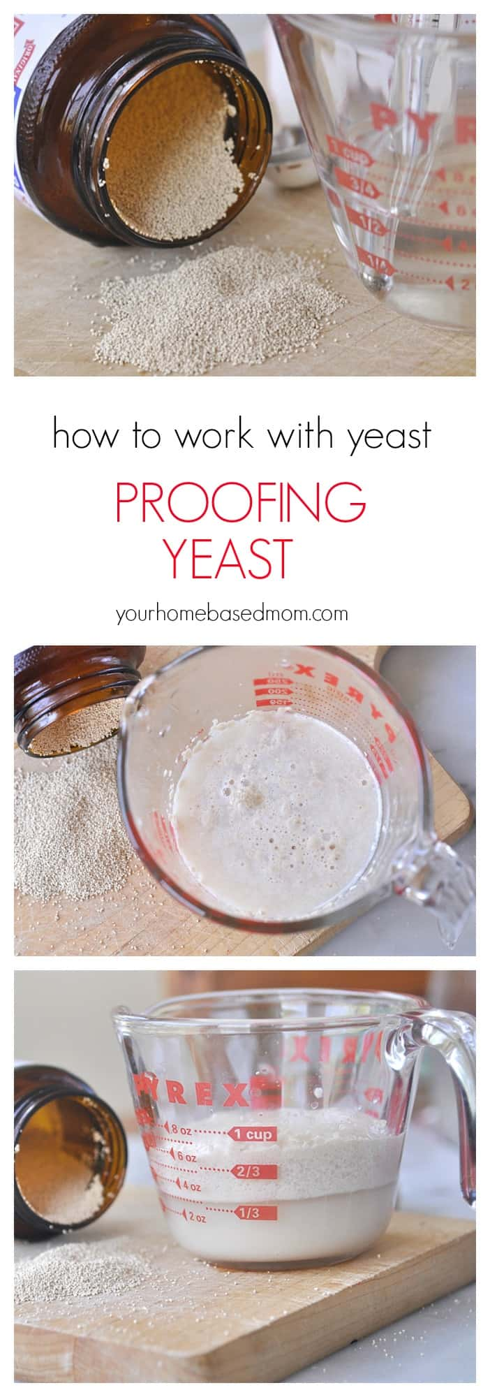 Step by Step how to work with yeast - make perfect bread everytime! @yourhomebasedmom.com