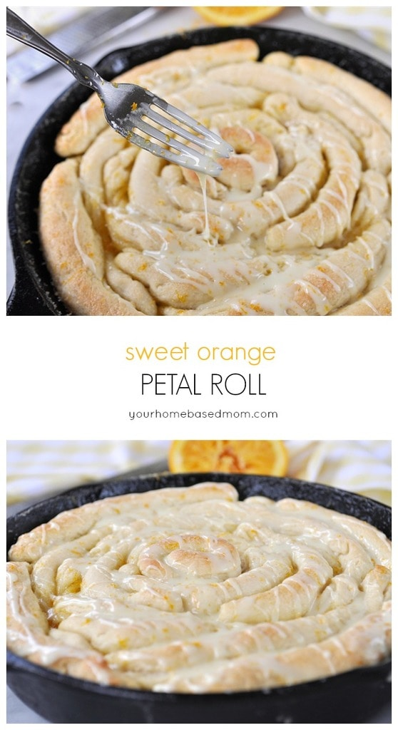 Sweet Orange Petal Roll is full or orangey goodness!