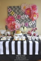 Waffle Bar Bridal Shower with Chinet® Cut Crystal® + a Giveaway​