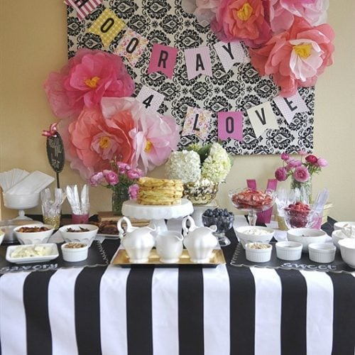 Waffle Bar Bridal Shower with Chinet® Cut Crystal® + a Giveaway