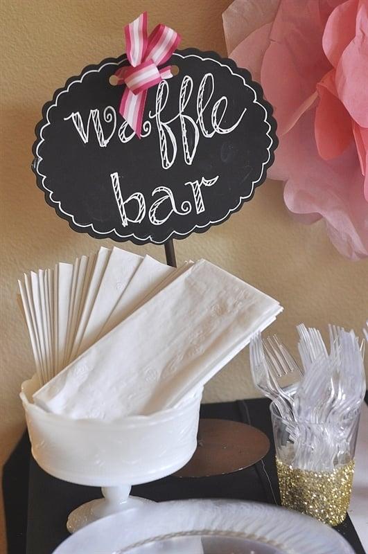Waffle Bar Bridal Shower