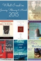 What I read in January, February and March of 2015.  Add them to your list!
