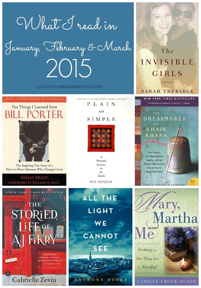 What I read in January, February and March of 2015. Add them to your list! Recommended Reads