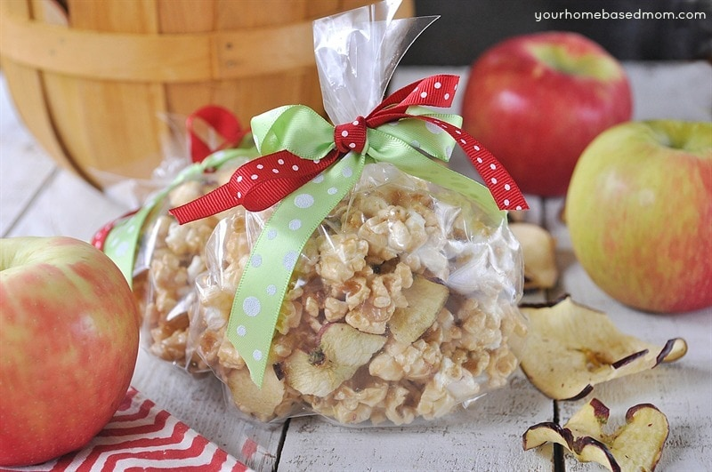Caramel Apple Popcorn is the perfect way to say thank you to your teacher.