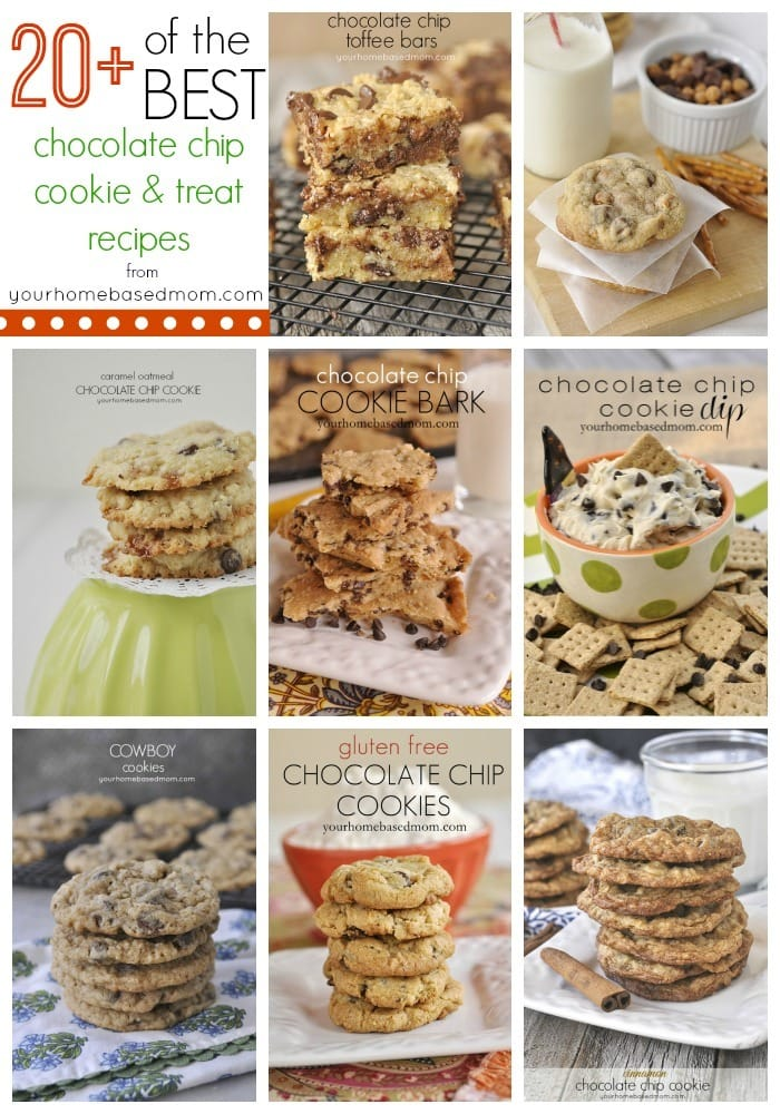 20+ of the best chocolate chip cookie and treat recipes from yourhomebasedmom.com