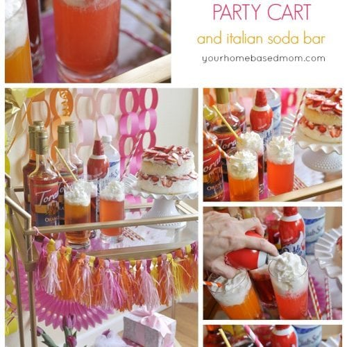 Birthday Party Cart with Italian Soda Bar and Giveaway