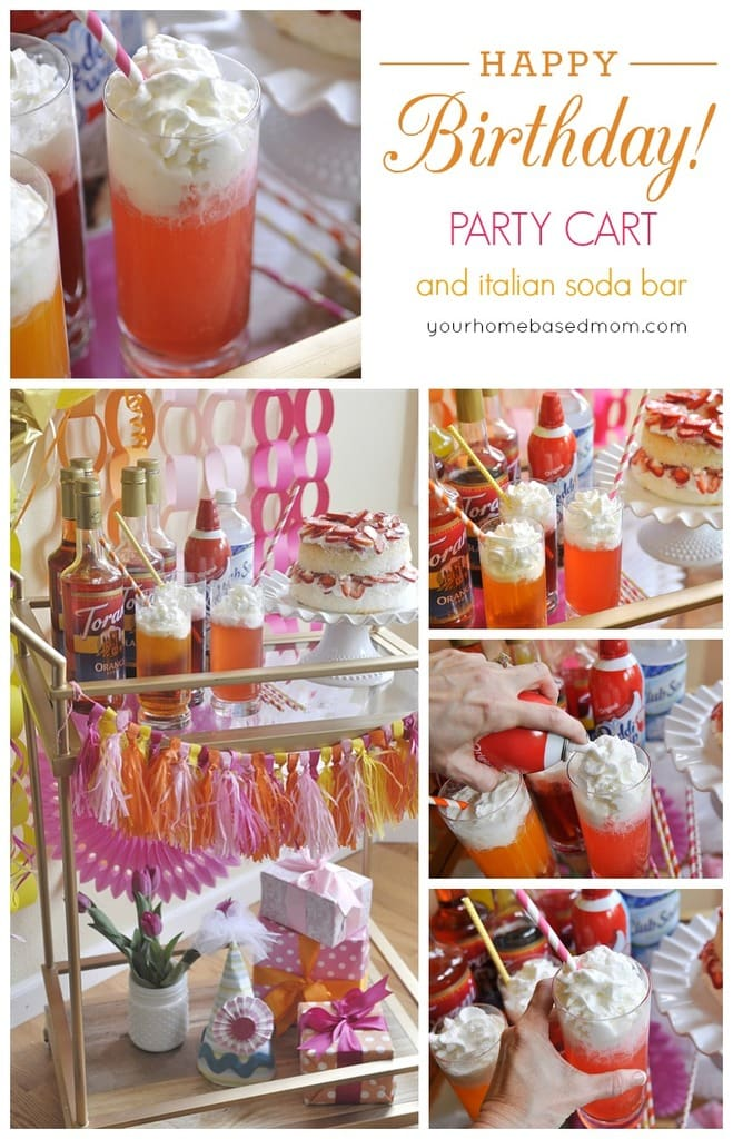 Birthday Party Cart and Italian Soda Bar