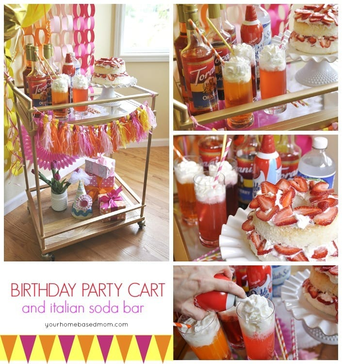 Birthday Party Cart with an Italian Soda Bar - party perfect