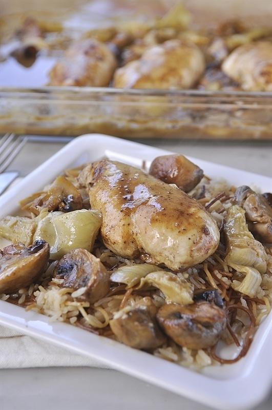 Chicken Breasts with mushrooms and artichoke hearts is a delicious and elegant d_0007