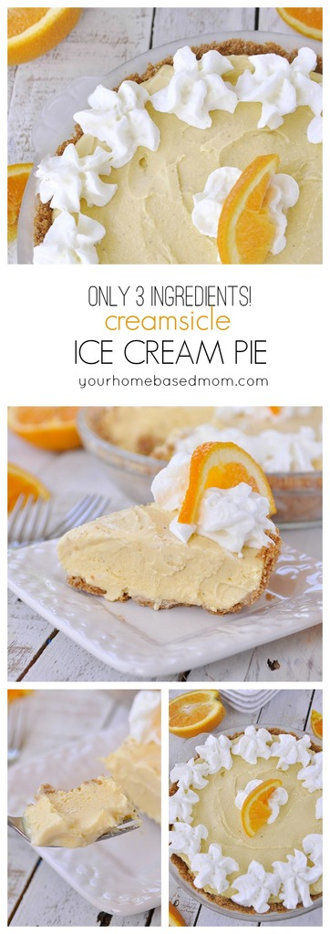 Creamsicle Ice Cream Pie has only 3 ingredients!