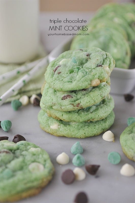 Triple Chocolate Mint Cookies