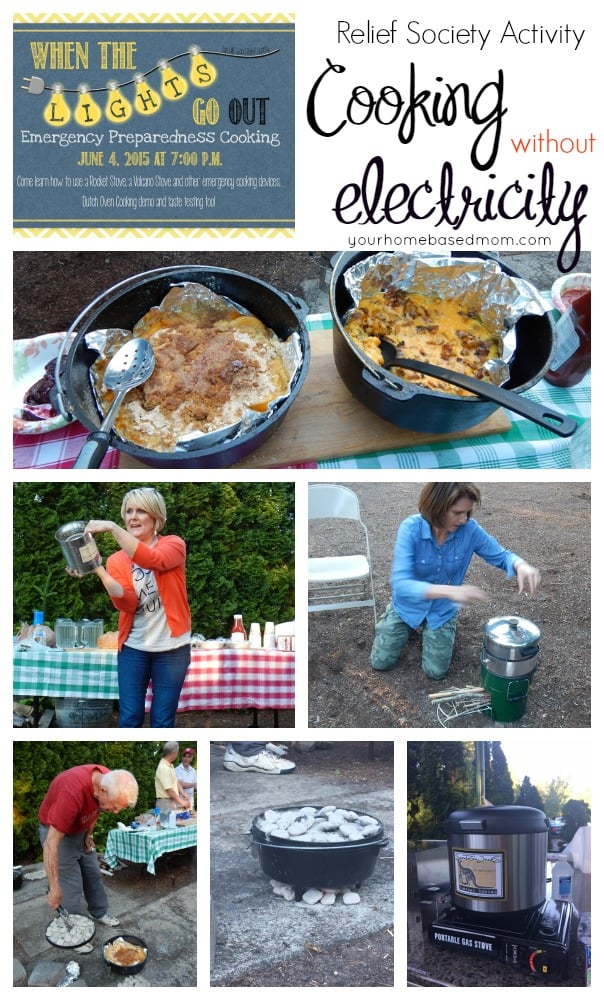 Cooking without electricity @yourhomebasedmom.com