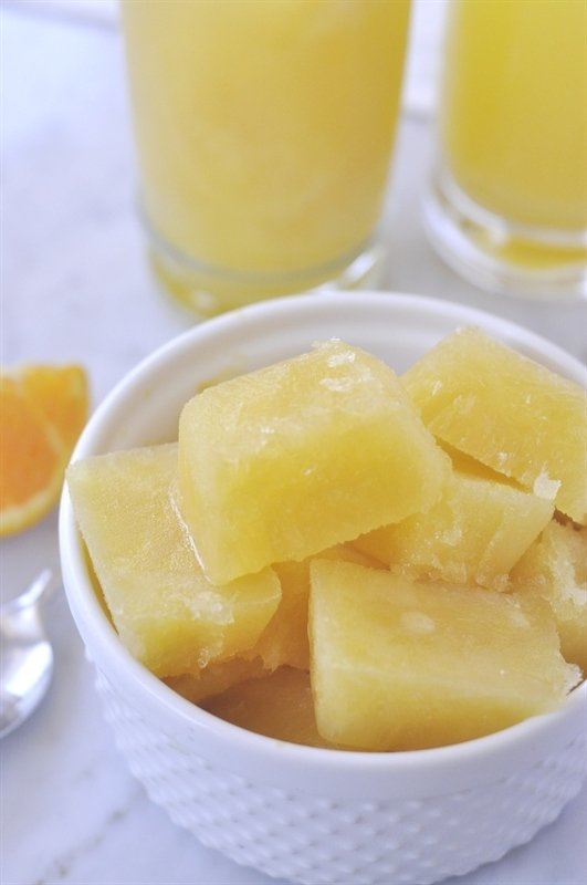 Fruit Slush Cubes - all you have to do is add lemon lime soda