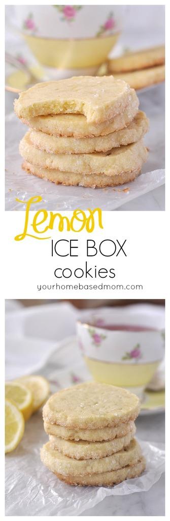 Lemon Icebox Cookies - your homebased mom
