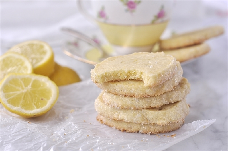 Enjoy a lemon icebox cookie or two with your afternoon tea.
