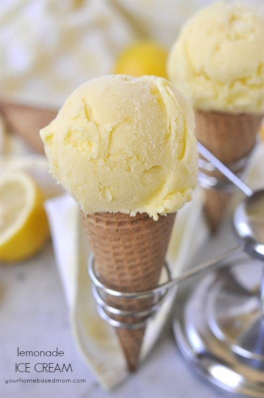 Lemonade Ice Cream is the perfect summer combination - lemonade and ice cream all in one!