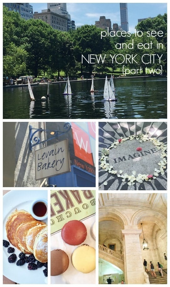 collage of favorite NYC places