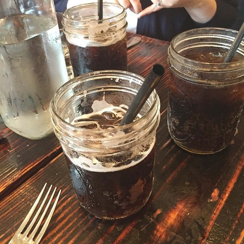 Root beer tasting at Jacob's Pickles.