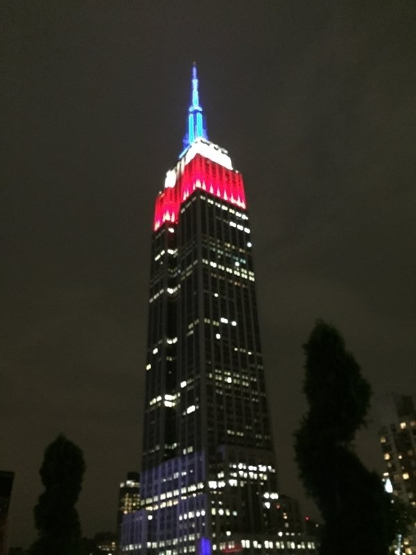 Empire State Building on Flag Day