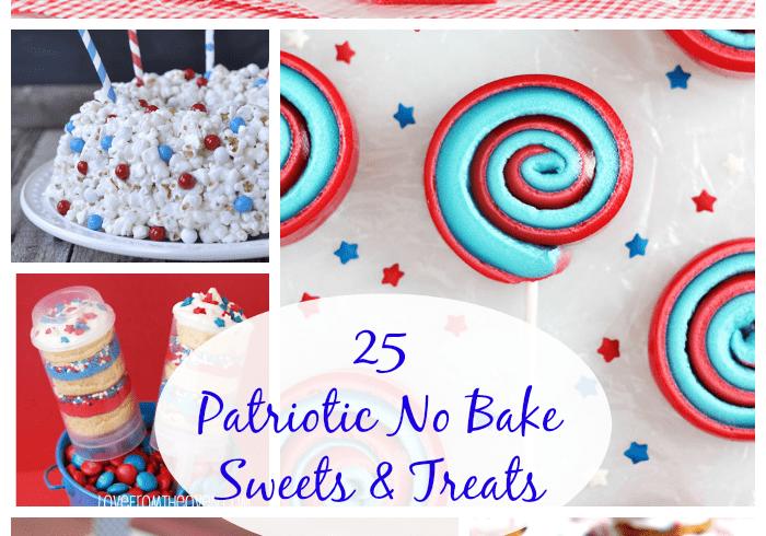 25 Patriotic No Bake Sweets & Treats