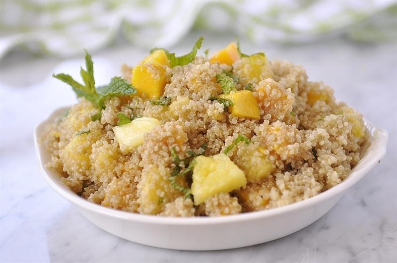 Quinoa Salad with Mango, Pineapple & Mint - your homebased mom