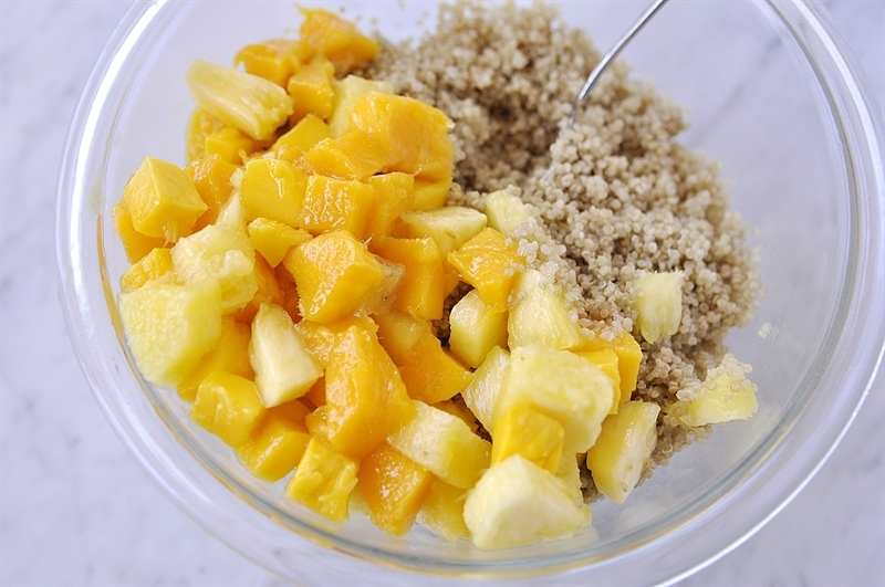 Quinoa Salad with Mango, Pineapple and Mint