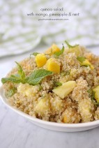 Quinoa Salad with Mango, Pineapple & Mint