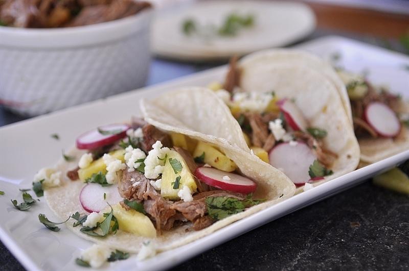 slow cooker al pastor tacos
