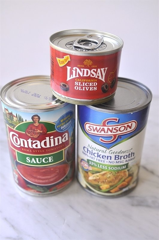 Canned Goods for Marinara Sauce