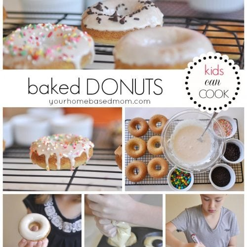 Baked Donuts }Kids Can Cook