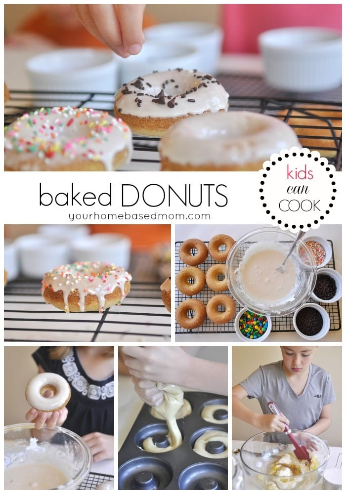 Baked Donuts with the kids in the kitchen!