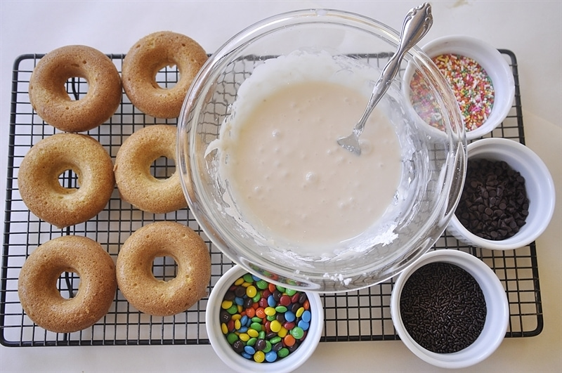 Baked Donut toppings.