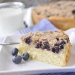 An delicious, old fashioned blueberry buckle!