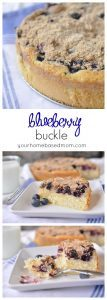 Blueberry Buckle is a delightful treat - perfect for dessert, breakfast or teatime.