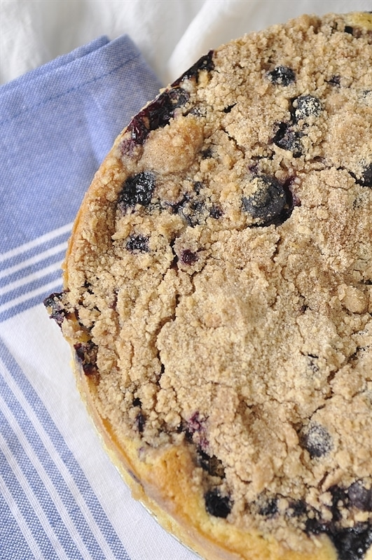 A blueberry buckle for breakfast!
