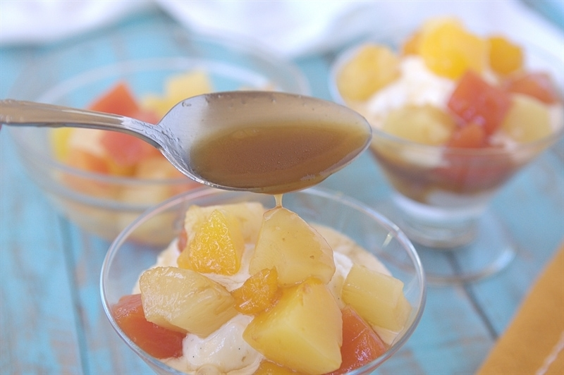 Brown Sugar Tropical Fruit Ice Cream Topping