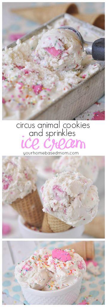 Circus Animal Cookies and Sprinkles Ice Cream