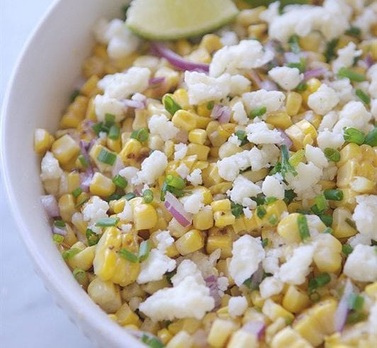 Roasted Mexican Corn Salad - all the flavor of Mexican Corn without having to eat it off the cob!