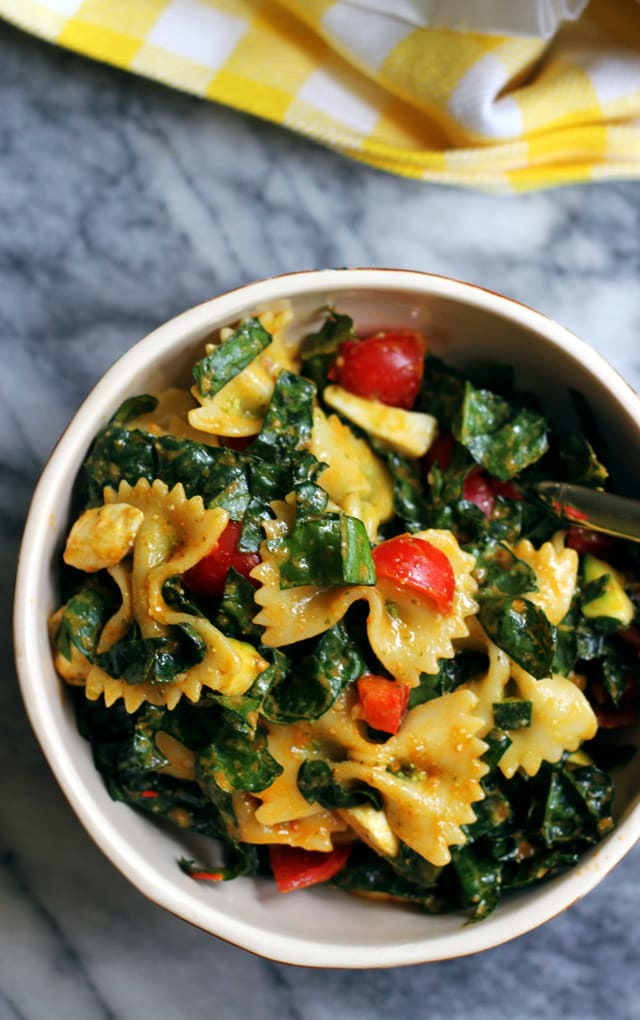 Tuscan Kale, Bell Pepper, Zucchini & Tomato  Salad