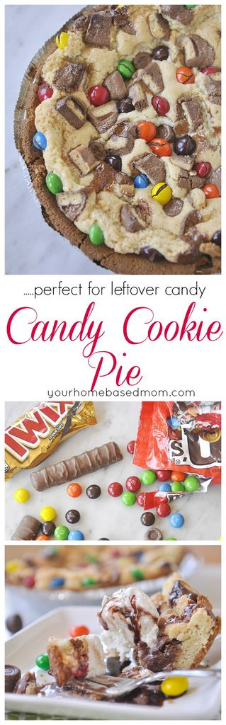 Candy Cookie Pie is a fun and delicious way to use up extra candy