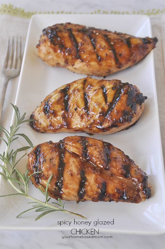 Spicy Honey Glazed Chicken - easy and delicious!