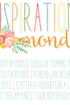 Inspiration Monday Linky Party & Giveaway