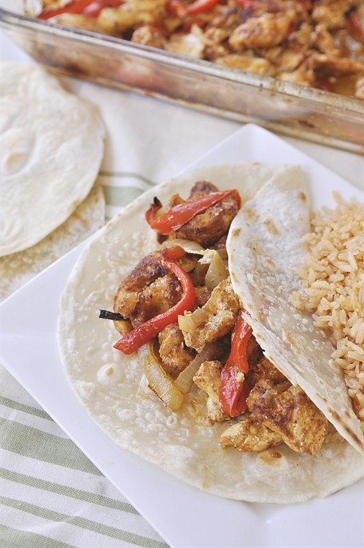 One pan baked fajitas will become a family favorite.